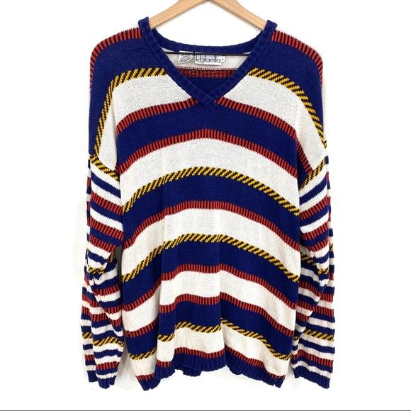 Vintage Sweaters - Rafaella | Nautical Inspired Striped Sweater